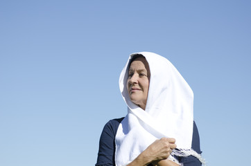 Portrait senior muslim woman