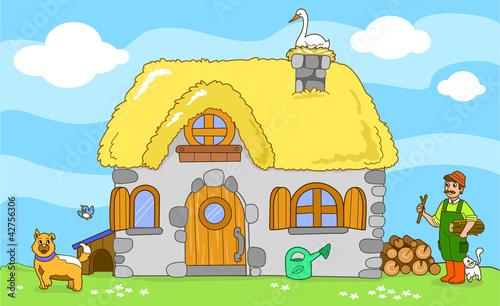 Vecchia fattoria con animali illustrazione per bambini for Nuovi piani di vecchia fattoria