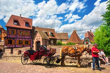 Calèche de kaysersberg , Alsace (FR)