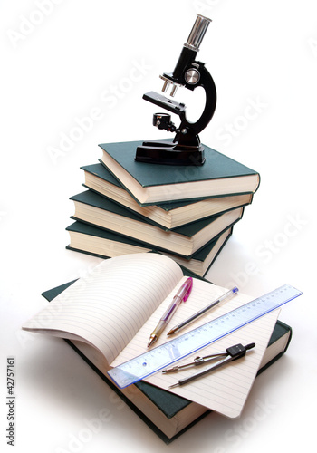 The Microscope and Books.