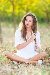Young Woman in Relax Outside