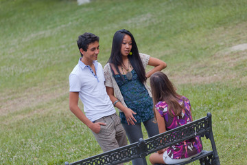Group of Teenagers Talking at Park