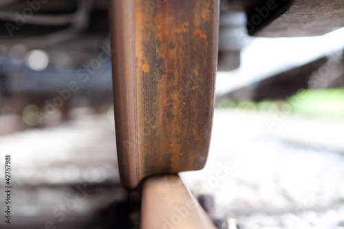 train wheel and rail