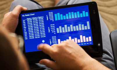 charts on tablet-pc