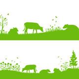 Biologische Landwirtschaft Vektor