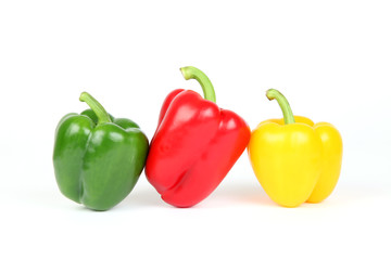 Drei Sorten Paprika