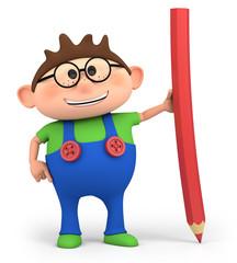 boy with pencil