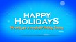 Wish you happy holidays greeting video animation
