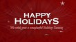 Wish you happy christmas holidays greeting video animation