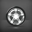 Car Wheel, vector