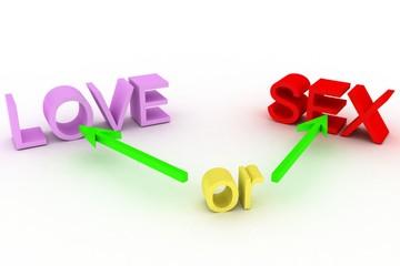 любовь или секс?