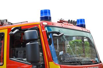 Feuerwehrauto/ Detail/Frontansicht