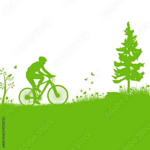 Mountainbike Vektor Silhouette