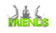 Freunde im sozialen Netzwerk
