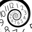 canvas print picture - infinity time spiral clock
