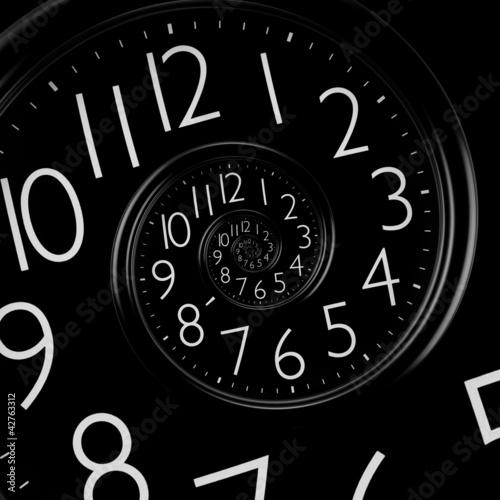 Papiers peints Spirale infinity time spiral clock