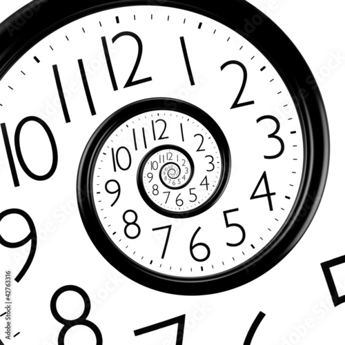 infinity time spiral clock - 42763316