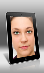 Face on the tablet