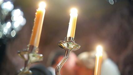 candelabrum and wedding