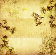 Bambou sur le vieux grunge texture du papier