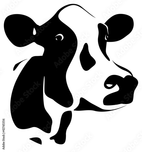 abstract cows head