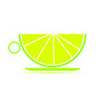 illustration of a cup of lime