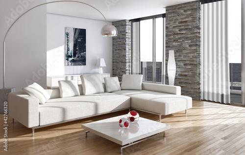 Leinwanddruck Bild Living room