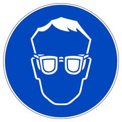 Schild - Augenschutz benutzen