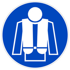 Schild - Rettungsweste tragen