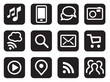Vector iconset mobile communication black