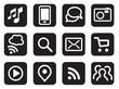 Vector iconset mobile communication black
