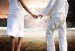 Enjoying pure freedom   Happy couple holding hands