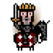 pixel king mounted red army