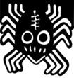 funny black spider