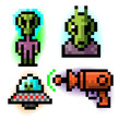 pixel alien set