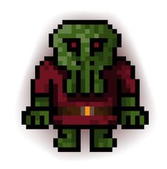 monster green pixel