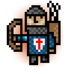 pixel archer blue army