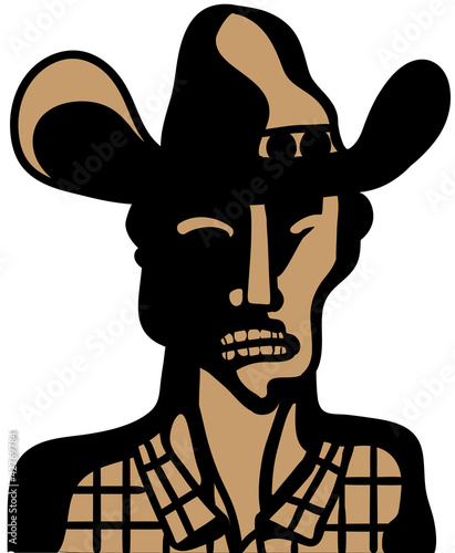 angry cowboy face © Complot