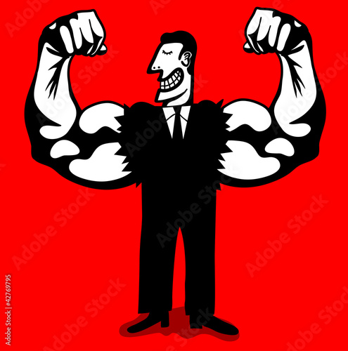 businessman with strong arms