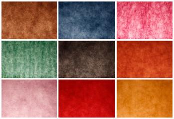 Collage di colori sfumati per sfondi