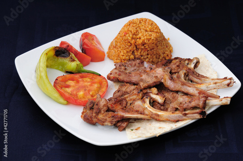 delicacy of lamb ribs in Oriental