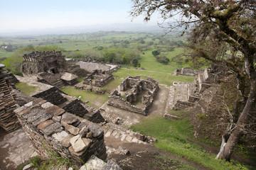 maya ruins Tonina in Mexico