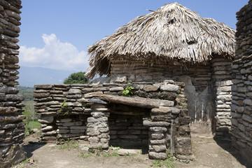 maya ruins Tonina in Mexico, house