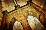 Brooklyn bridge vintage view - 42772732