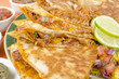 Mexican Spicy Chicken Tinga Quesadillas