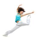 Fototapety Dancer girl jumping and dancing