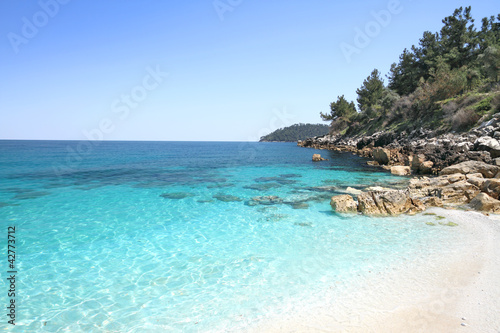 Marmara (Marble) beach , in Thasos island - Greece