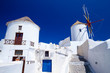 Windmill of Oia village at Santorini island. Greece