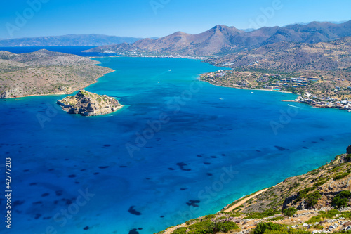 Wall mural mirabello bay view with spinalonga island on for Bay view wall mural