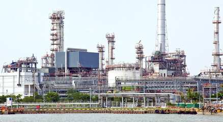Panorama of Oil refinery plant